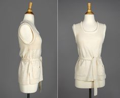 Vintage Ivory Sweater Tunic by GirlLeastLikely on Etsy #1970s #sweater #tunic