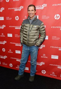 Matthew McConaughey at the Mud Premiere at Sundance 2013 on Sat Jan 19, 2013 at the #Marc #Theater in Park City UT