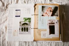 Vintage Travel Journal by Inmost Light via Honeysuckle Life