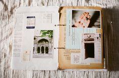Vintage Travel Journal by Inmost Light via Honeysuckle Life