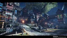 ArtStation - Fantasy City, Christoffer Radsby