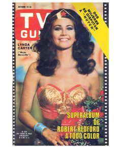 Lynda Carter as Wonder Woman TV Guide Oct 1977.  Those were the days!!