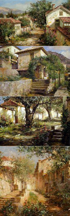 Las calles viejas. Los paisajes. Shymski Andras