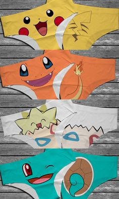 These comfy panties each come with a Pokemon tail printed on the rear, making them a cute and fun addition to any Pokegirls wardrobe. So if you're a panty-wearing Pokemon fan, these are perfect for you! Pikachu, Cute Underwear, Geek Underwear, Nerd Fashion, Cute Lingerie, Anime Merchandise, Geek Girls, Geek Chic, Nerdy
