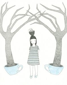 Wandering amongst the blue teacup trees by Catherine Campbell