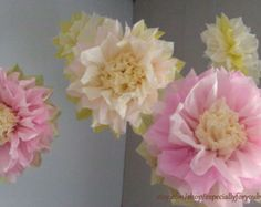 Set di 3 fiori di carta giganti L Rosa / di especiallyforyoubyyw