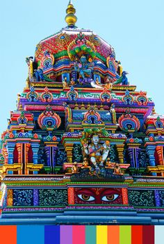 Colorful Hindu Temple* Sri Lanka My Husband isnt keen on going to India.maybe Sri Lanka? colour for life Sri Lanka, Places Around The World, Oh The Places You'll Go, Around The Worlds, Beautiful Buildings, Beautiful Places, Colourful Buildings, Wonderful Places, Hindu Temple