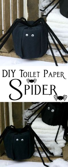 A DIY Toilet Paper Spider that transforms a roll of toilet paper into fun and festive decor that's perfect for the Halloween holiday!  #halloween #DIY #fall #decor #craft #toiletpaper Festival Decorations, Diy Halloween Decorations, Halloween Crafts, Halloween Party, Halloween Stuff, Fall Crafts, Halloween Ideas, Diy Pumpkin, Paper Pumpkin