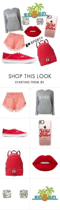 """""""Sunday Funday"""" by monirf ❤ liked on Polyvore featuring Paloma Blue, Alberta Ferretti, Alyx, Casetify, MICHAEL Michael Kors and Lime Crime"""