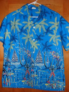 1950's Penny's Full Panel Spear Fisherman Vintage Hawaiian Shirt