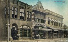 Lufkin National Bank & H. & J. Abram 1907. Faced Lufkin Ave. at the corner of North First St. If you know who occupied the 3rd building in 1907