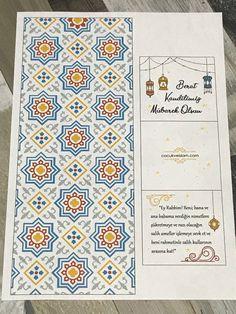 Berat Kandili Kartı – Çocuk ve İslam Islam, Notebook, Bullet Journal, Child, Painting, Diy, Kid, Boys, Bricolage