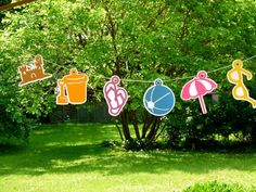Beach Pool Theme Party Banner, Decoration, Photo Prop | WildvineUnlimited - Paper/Books on ArtFire