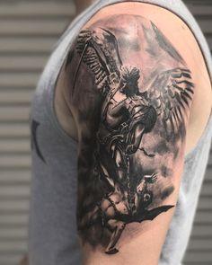 Intéressant tatouages St. Michael avec des significations fortes #fortes #Intéressant #michael #significations #Tatouages