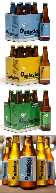 Omission Lager, Pale Ale and Gluten-free artisan beer.