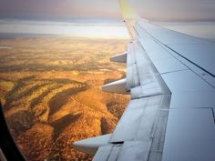 """@David Ng: """"Thanks @Qantas for the ride…what a beautiful sunset heading home into @southaustralia #Adelaide"""""""