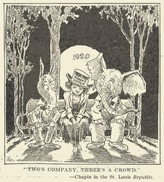The message of this cartoon isn't obvious - but it reminds us of an important advance for American women in the 1920s. In 1920, after decades of campaigning, all adult women were finally given the vote.