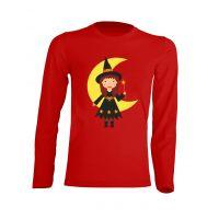Camiseta Manga Larga Brujita Roja