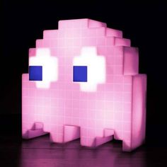 Buy Pac-Man Ghost Light online and save! In case you didn't know know, the ghosts of Pac-Man actually had their own names – Blinky, Pinky, Inky and Clyde. Pac Man, Deco Led, Ghost Light, Mood Lamps, Lamp Switch, Deco Originale, Night Lamps, Night Lights, Retro Chic