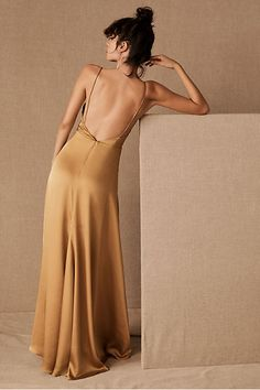 Fame and Partners Rosabel Dress by in Yellow Size: Women's Dresses at Anthropologie Bridesmaid Dresses, Prom Dresses, Formal Dresses, Mini Dresses, Bridesmaids, Old Hollywood Glamour, One Piece Dress, Dress First, Satin Dresses