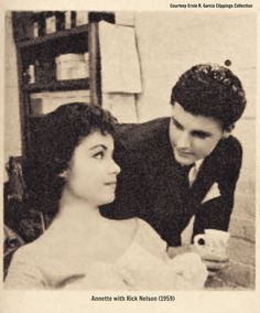 Annette and Ricky Nelson:) she had a big crush on Ricky Nelson!!!