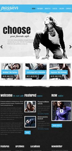 Dance Studio Website Template http://www.templatemonster.com/website-templates/43358.html?utm_source=pinterest&utm_medium=timeline&utm_campaign=dance