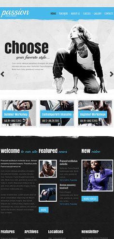 Dance Studio Website Template http://www.templatemonster.com/website-templates/43358.html?utm_source=pinterest&utm_medium=timeline&utm_campaign=dance