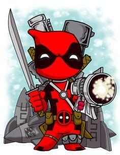 Lil' Deadpool - CuddleswithCats.deviantart.com