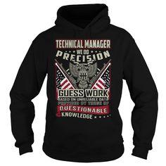 Technical Manager Job Title T-Shirts, Hoodies. SHOPPING NOW ==► https://www.sunfrog.com/Jobs/Technical-Manager-Job-Title-T-Shirt-103818789-Black-Hoodie.html?id=41382