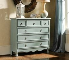 Blue Distressed Chest at Kirklands#kirklands #organization
