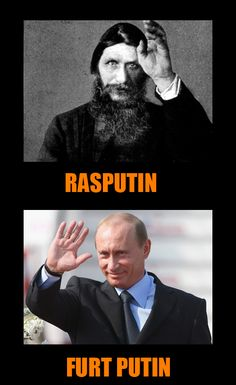 "Rasputin - former ""unformal"" ruler of Russia vs Putin - present ruler of Russia at present time twice President and former Prime Minister former KGB spy in East Germany (maybe for ever ? Best Funny Images, Funny Pictures, Good Jokes, Funny Jokes, President Meme, Russian Memes, Rasputin, East Germany, Sad Stories"