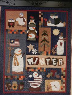 Winter Snowman quilt                                                                                                                                                                                 More