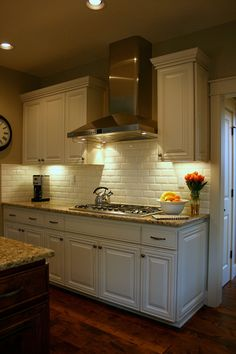 Isabella & Max Rooms: Revisiting The Painting Of The Kitchen & Family Room Cabinetry (tan kitchen cabinets) Kitchen Redo, New Kitchen, Kitchen Dining, Kitchen Ideas, Kitchen Inspiration, Design Inspiration, Design Ideas, Kitchen Stove, French Kitchen