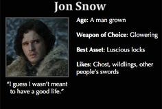 Game of Thrones Trading Cards - Jon Snow