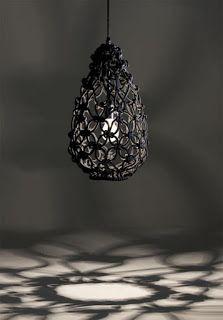 Luminárias de Crochê, Tricô e Macramê - Cores da Casa