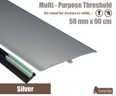 Beech Laminate Door Strip 38mmx90cm Multi-Height and Pivot Adhesive Easyclip