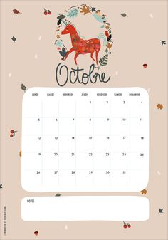FREE Printable Calendar October 2015