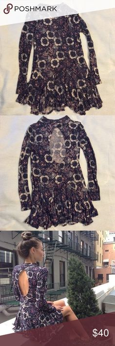 Free People Open Back Dress In excellent condition, no pilling or fading Free People Dresses