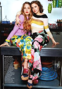 Jemima Kirke and Lena Dunham.