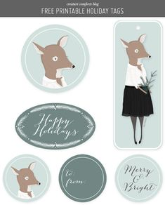 Roundup: 20 Free Holiday Gift Tag Printables | Curbly