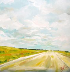 Headed West - a Large Original Oil Painting by Emily Jeffords. via Etsy.