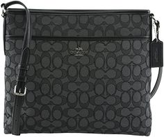 05fc4c6b49bc Coach Outline Signature File Bag F58285 SV BLACK SMOKE BLACK Crossbody