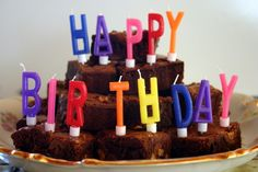 birthday brownies ideas | Brownie birthday cake