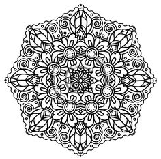 adult coloring pages intricate | Intricate Mandala Coloring Pages Design – Mandalas Picture