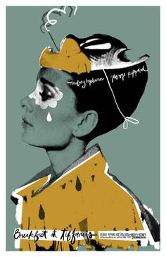 Breakfast at Tiffany's 24x36 inch poster by TheArtOfAdamJuresko, $45.00