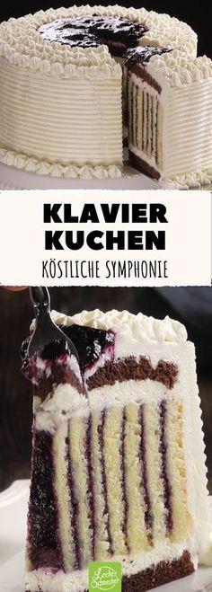 Eine Kuchen-Komposition, die verführerischer nicht sein könnte! #rezept #rezepte #kuchen #torte #blaubeer #sahne #frischkäse #creme