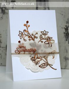 Sympathy Card using Flourish Thinlits from Stampin Up - with Michelle Last