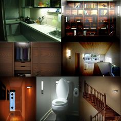 LEDNut Rechargeable Wireless PIR Motion Sensor LED Night Light with 3-Modes, Stick-on Anywhere Portable LED Wall Lamp, Built-in Battery Powered Activated Under Cabinet Lighting, Drawer Closet(White) - - Amazon.com