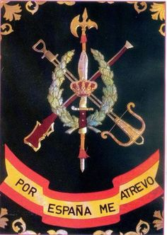 Legión Military Insignia, Royal Guard, Flag Patches, Special Forces, Coat Of Arms, Military History, Symbols, Tatoos, War