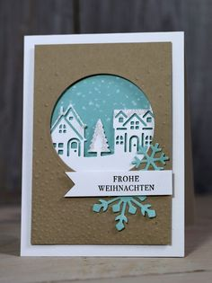 Freitagsvideo/Weihnachtskarte Winterstädtchen – Kreativ mit Stampin' Up! Friday Video / Christmas Card Winter Town – Creative with Stampin & # Up! Related posts:Christmas crafting ideas as you festively decorate your home for the. Christmas Cards 2018, Christmas Card Crafts, Homemade Christmas Cards, Xmas Cards, Homemade Cards, Handmade Christmas, Stampin Up Christmas 2018, Christmas Sayings, Printable Christmas Cards